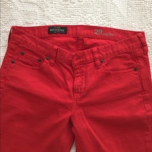 J.Crew Matchstick Red Jeans